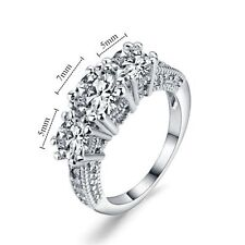 White Sapphire 10K  Filled Diamond Ring Women Size  9 UK  Size R 1/2