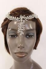 New Women Silver Head Metal Chains Big Beads Fashion Hair Pin Clips Forehead