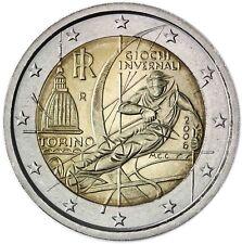 Italien 2 Euro 2006 Olympische Winterspiele in Turin Gedenkmünze bankfrisch