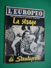 L'EUROPEO 1964 LAUREN BACALL SOPHIA LOREN Elga Andersen Errol Flynn Jannacci 998