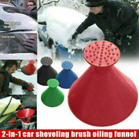 Car Windshield Magic Ice Scraper Tool Cone Shaped Outdoor Funnel Snow Remover