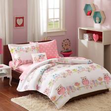 Mi-Zone Kids Wise Wendy Twin Comforter Sets Girls - Pink, Owl 6 Pieces Kids.