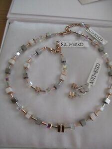 Coeur de Lion Set Halskette Kette Armband Ohrringe 4965 Collier rosegold edel