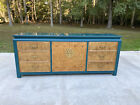 Century Furniture Hollywood Regency Chinoiserie Burl Wood Lacquered Credenza