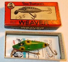 NOS-VINTAGE PAUL BUNYAN WEAVER NEW IN 2PCCB BOX & PAPERS-RARE TRANSPARENT FROG!