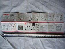 RARE Retro VINTAGE 1980s Dixons Time Cube portable alarm clock INSTRUCTIONS VGC