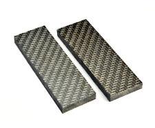 2pcs Lattice Grain Knife Handle Micarta Material Scales Slabs Supply 120*40*9mm