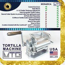 "Roller & Crank Tortilla Machine – NOT MONARCA - 6"" and 5""½ diameter tortillas"