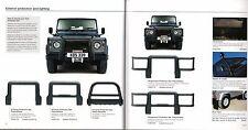 Land Rover Defender Accessories 2002-04 UK Market Sales Brochure