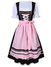 3Pcs Oktoberfest Costume Adult German Beer Girl Halloween Fancy Dress S M L -2XL