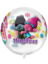 "Troll Trolls Birthday Party Decoration 16"" Clear Orbz Foil Balloon"
