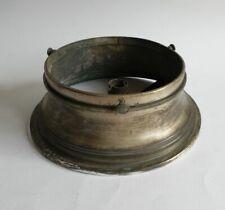 "Edwardian Silver Plated Brass 6"" light lamp shade gallery Art Deco Nouveau"