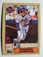 1987 Topps Howard Johnson Autograph New York Mets Tigers Auto Card #267 Signed