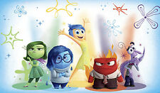INSIDE OUT PREPASTED WALLPAPER MURAL Kids Disney Bedroom Wall Decor NEW