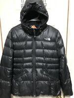 THE NORTH FACE 550 Fill Down Coat Jacket Hooded Black Puffer Girls XL 18