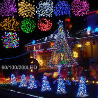 SALE 60/100/200 LED String Solar Light Garden Outdoor Xmas Party Fairy Tree Lamp