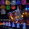 SALE 60/100/200 LED String Solar Light Garden Outdoor Xmas Party Fairy Tree Lamp