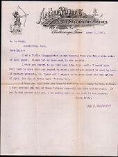 1901 Chattanooga Tn - Archer Paper Co - Stationery and Twines - Letter Head