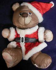 Vintage 1987 Potpourri Press Christmas Santa Bear Silkie Shell