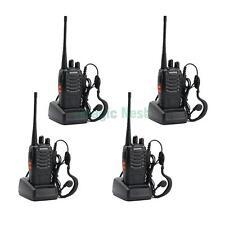 4 x Baofeng BF-888S Black UHF 400-470MHz 16CH Ham Two-Way Radio Walkie Talkie