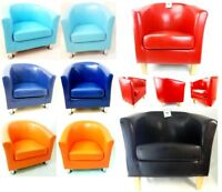 Faux Leather PU Tub Chair Armchair Dining Room Modern Office Furniture