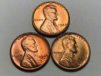 1948 P D S Lincoln Wheat Cent Penny Set Gem BU Uncirculated