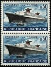 FRANCE 1962  PAQUEBOT FRANCE Paire n° 1325 Neuf ★★ luxe / MNH