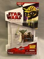Star Wars The Clone Wars Yoda CW14 Hasbro 2009 Lightsaber Free Shipping