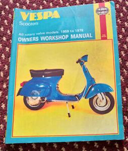 Haynes Manual Vespa Scooters 59-78