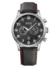 Hugo Boss Men's 1512919 Aeroliner Chronograph Black Dial Black Canvas Watch