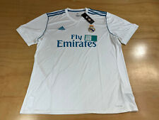 ADIDAS REAL MADRID FLY EMIRATES CLIMACOOL SOCCER FUTBOL JERSEY WHITE TEAL XL