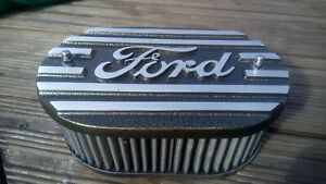 Ford escort ,capri, pinto ohc alloy k&n air filter top, speckled gold brand new