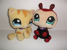 LITTLEST PET SHOP LADYBUG & KITTY PLUSH SOFT TOYS