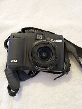Canon PowerShot G16 Digital Camera W/ WiFi Black 12.1MP - Powers on - Lens error