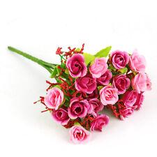 Lots Silk Flower Rose Flower Home Bridal Bouquet Wedding Party Xmas Home Decor