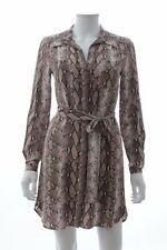 Diane Von Furstenberg Polly Python Print Silk Dress / Brown / RRP: £345.00