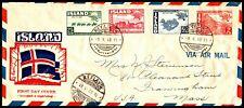 *Kappys Iceland Vestmannaeyjar Cacheted 1St Day Air Mail Cover Scott 253-56