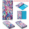Lotus Style Flip Wallet Leather Pouch Purse Case Cover For Sony Mobile Phones