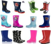 Childrens Kids Themed Wellies Daisy Wellingtons Navy Red Snow Rain Wellies 4-2
