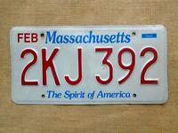 American number licence plate Massachusetts vintage car genuine embossed USA 2