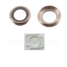 GENUINE IPHONE 6 PLUS 5.5 REAR GOLD CAMERA LENS COVER RING+FLASH DIFFUSER PART
