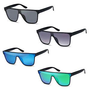 Große rechteckige Sonnenbrille in versch. Glasfarben inkl. Brillenbeutel UV400