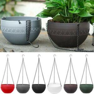 New Rattan Hanging Plant Pots Flower Baskets Hanger Self Holder Wall Decoration