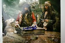 Keith Richards Signed Pirates of the Caribbean Autograph Johnny Depp Proof COA