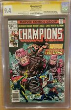 Champions #17 CGC 9.4 NM SS Stan Lee Sentinels Last Issue OW-W