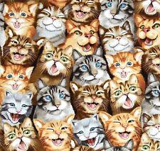 Katzen Selfie Patchworkstoffe Stoffe Tiere Cats Patchwork Baumwolle Katzenstoffe