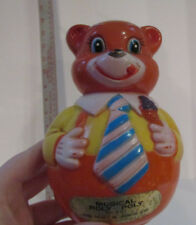 MUSICAL ROLY-POLY Bear Toy #931 Vintage Bomar Co Div of KIDDIE Prod. JAPAN