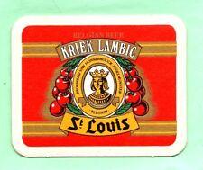 sous-bock KRIEK LAMBIC ST LOUIS bierviltje coaster bierdeckel Lot 1655