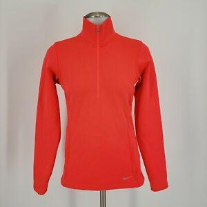 Nike Golf Women's 1/2 Zip Pullover Jacket, Scarlet Fire, Size XS, 619967-603