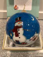 Li Bien 2019 Classic Scene SANTA with Reindeer & SNOWMAN Christmas Ornament